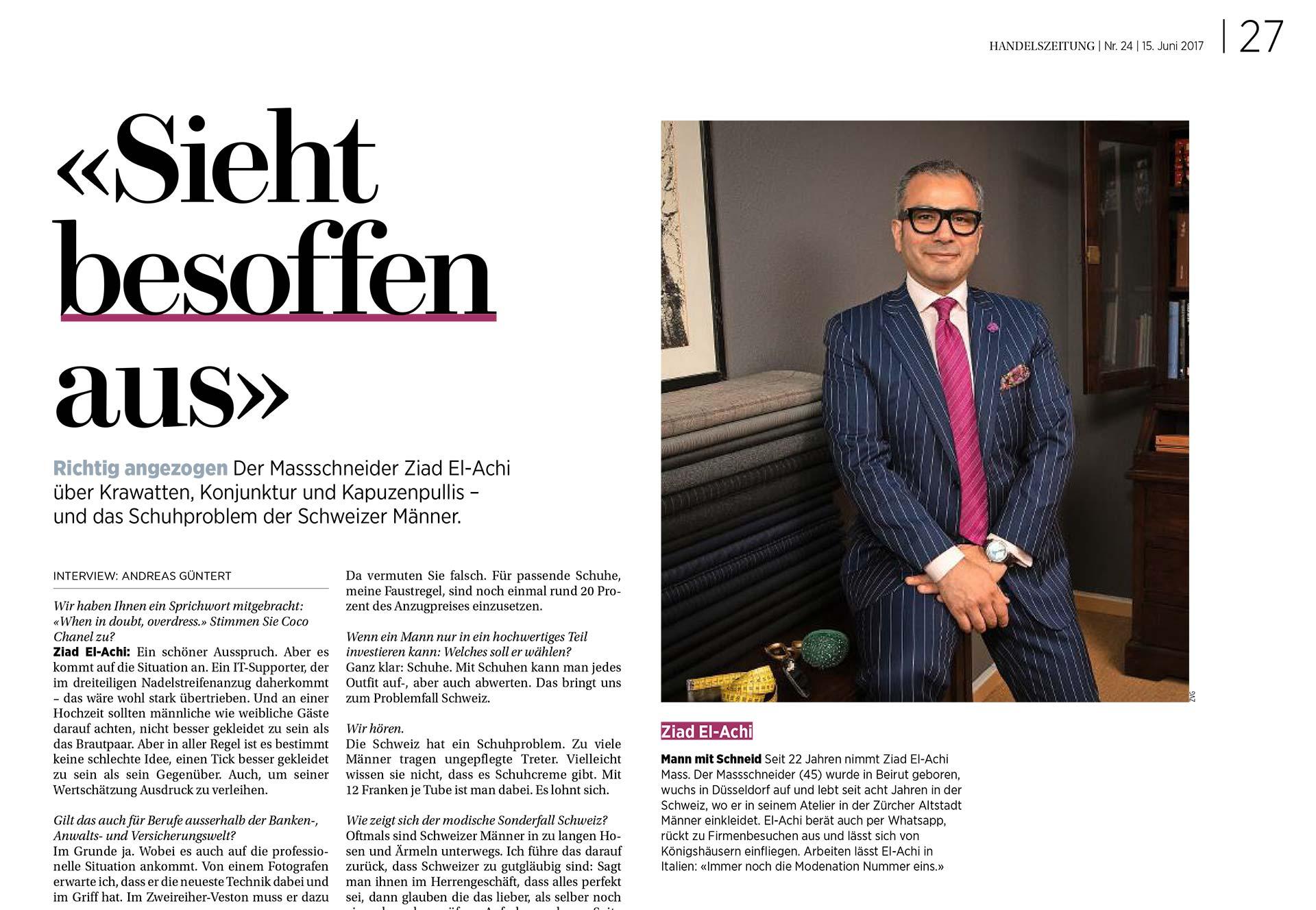Handelszeitung - Interview mit Ziad El-Achi